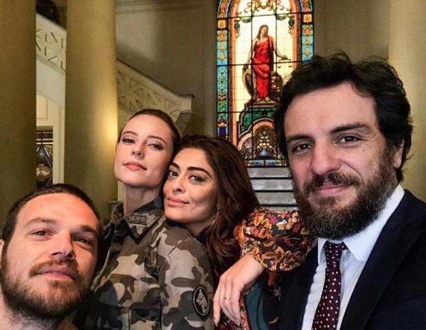 Emilio Dantas, Paolla Oliveira, Juliana Paes e Rodrigo Lombardi (Foto: Reprodução)