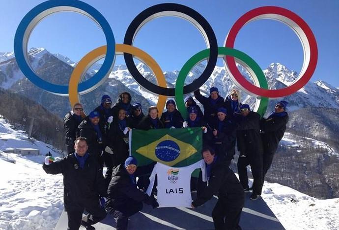 homenagem a lais souza sochi jogos de inverno (Foto: Reprodução/Facebook)