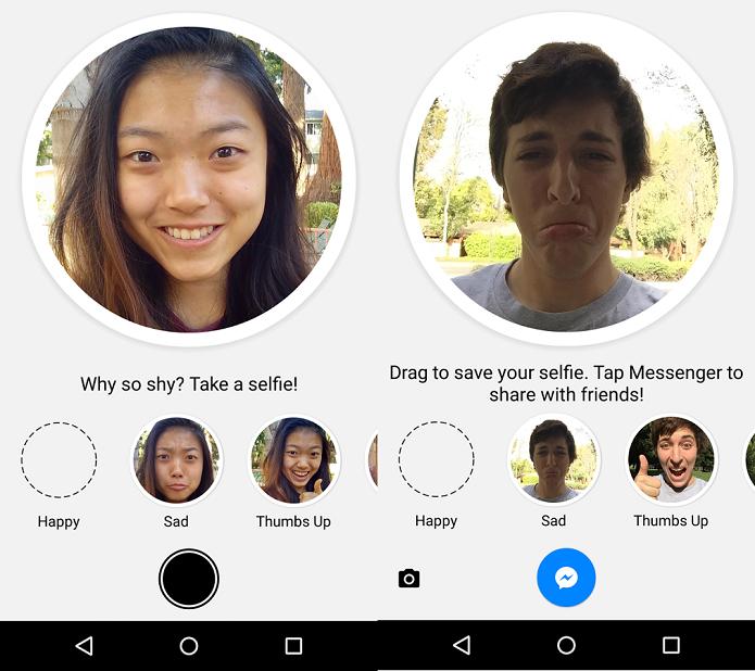 Faça selfies e use como emoticons com o Selfied (Foto: Divulgação)