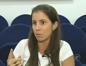 Marcela Constantino, diretora do Vôlei Futuro (Foto: Reprodução / TV TEM)