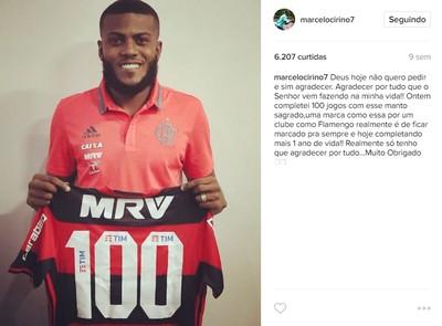 Marcelo Cirino completou 100 jogos na partida contra o Vila Nova (Foto: Reprodução/Instagram)