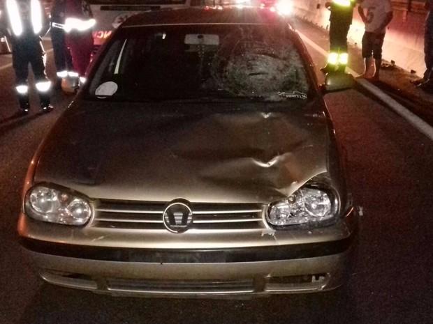 Homem morreu atropelado em Curitiba na madrugada desta quinta-feira (31) (Foto: Divulgação/PRF)