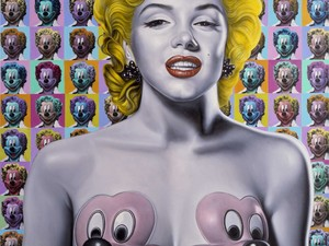 Pop Marilyn Mickeys é uma das obras de Ron English (Foto: Divulgação)