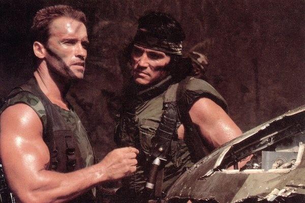 O ator Sonny Lendham em cena de Predador (1987) com Arnold Schwarzenegger (Foto: Reprodução)