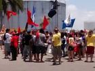 Manifestantes saem em defesa da Petrobras em protesto na Paraíba