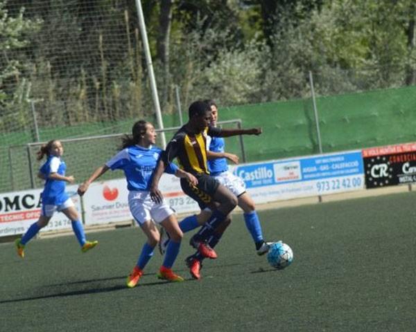 As meninas do AEM de Lleida em ação (Foto: Divulgação)