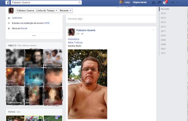 Internautas postam fotos com os seios a mostra em apoio a álbum (Foto: Reprodução/ Facebook)