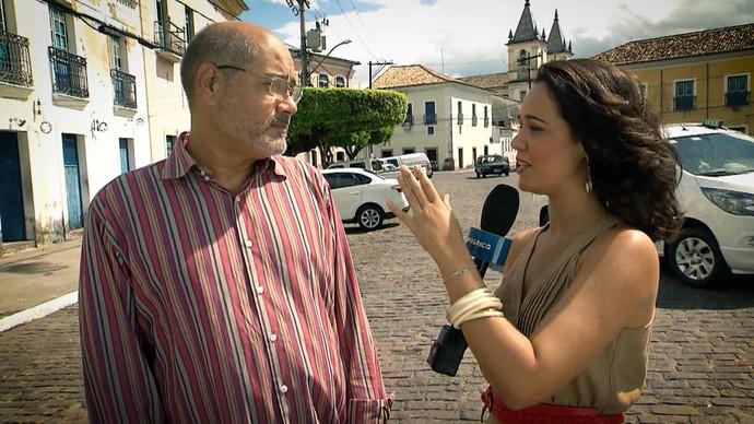 'Pé na Pista' visita a histórica cidade de Cachoeira (Foto: TV Bahia)