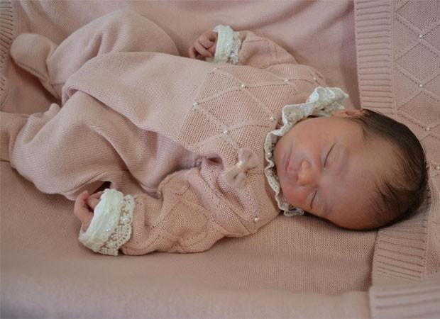 Maelle, primeira filha de Naiumi Goldoni (Foto: Arquivo pessoal)