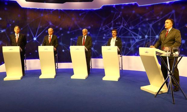 Quatro candidatos ao governo de MG participam de debate em Belo Horizonte (Foto: Emmanuel Pinheiro/ Metro BH)
