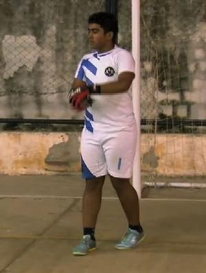Rafael Vieira goleiro Itaitinga futsal Copa TV Verdes Mares (Foto: Reprodução/TV Verdes Mares)