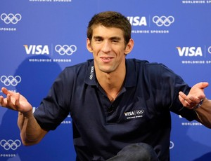 nata&#231;&#227;o michael phelps coletiva (Foto: Ag&#234;ncia AP)