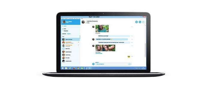 Versão para web permite entrar em contato com amigos e fazer ligações (foto: Reprodução/Microsoft)
