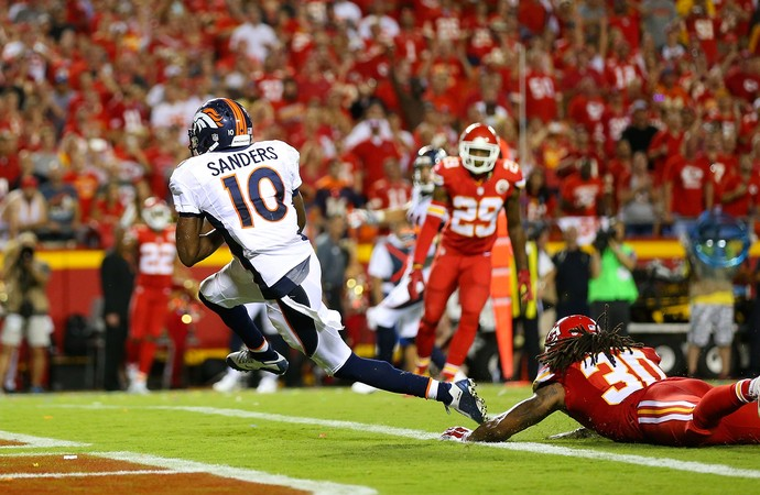 Emmanuel Sanders Denver Broncos x Kansas City Chiefs NFL (Foto: Getty)