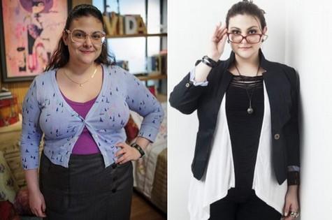 Raquel Fabbri antes e depois de perder 15 quilos (Foto: Tv Globo/Carol Beiriz)