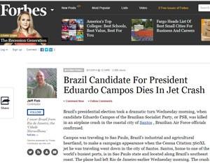 'Forbes' aponta que Marina pode tornar as eleições mais acirradas, se for candidata. (Foto: Reprodução)