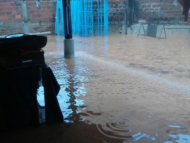 Casas também ficaram alagadas em Formoso do Araguaia (Foto: Edilene Maidana/Divulgação)