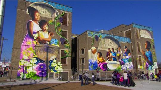 Filadélfia tem maior projeto de arte pública dos EUA, enfeitando a cidade