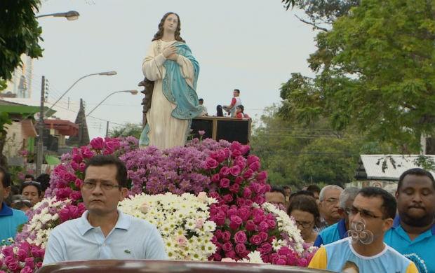 Procissão de Nossa Senhora da Conceição em Macapá (Foto: Reprodução/TV Amapá)
