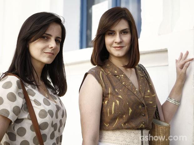 Juliana (esq.) e Camila darão vida a Chica e Selma na trama (Foto: Inácio Moraes/TV Globo)