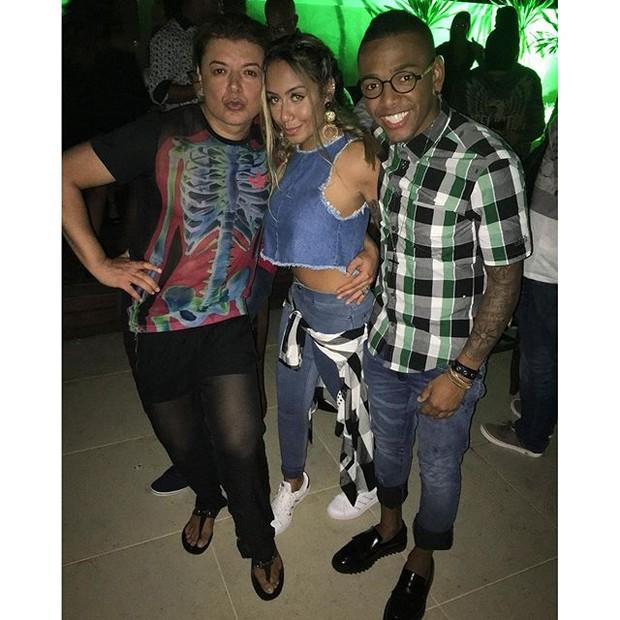David Brazil, Rafaella Santos e Nego do Borel (Foto: Reprodução/Instagram)