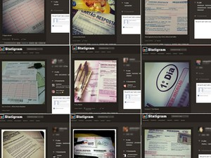 Fotos de cartões de respostas do Enem foram postadas nas redes sociais (Foto: Reprodução)