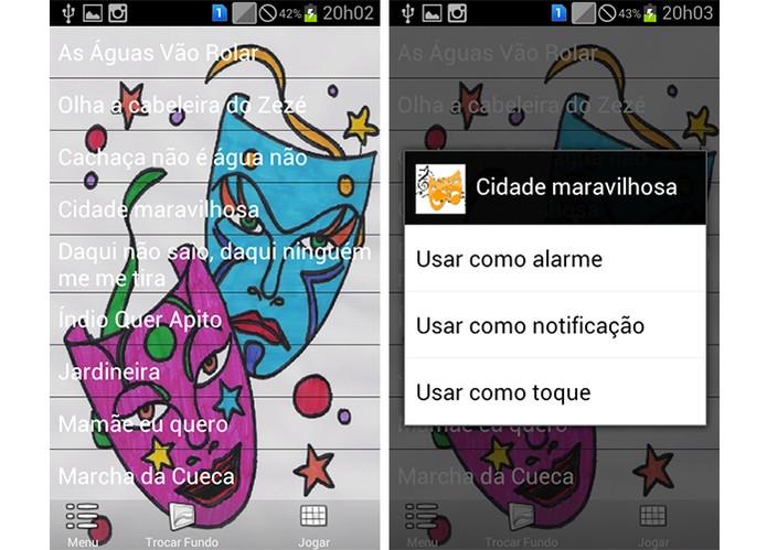 App Marchinhas de Carnaval permite que usuário cante junto e entre na folia (Foto: Divulgação/Google Play)