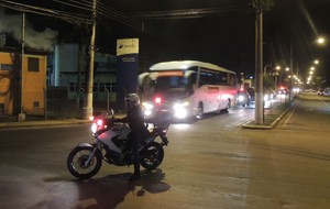 ônibus Bélgica (Foto: Vitor Geron)