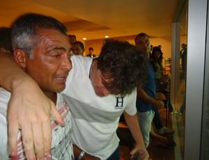 Romário chora Brasiliense x Brasília Mané Garrincha (Foto: Fabrício Marques/GLOBOESPORTE.COM)