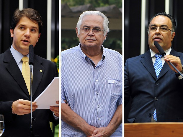 Os ex-deputados Luís Argôlo (esquerda), Pedro Corrêa (centro) e André Vargas (direita) denunciados pelo Ministério Público Federal (Foto: Gustavo Lima/Câmara dos Deputados e Geraldo Bubniak/AGB/Estadão Conteúdo)