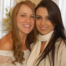 Cláudia (esq.) com a cunhada Danyelle (dir.)  (Foto: Arquivo Pessoal)