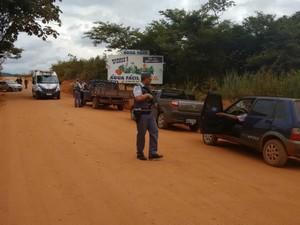 Polícia Militar atua na região do garimpo (Foto: Assessoria/ PM-MT)
