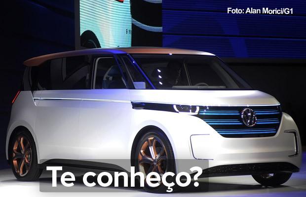 Volkswagen Budd-e no Salão de SP 2016 (Foto: Alan Morici/G1)