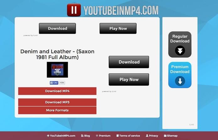 YouTubeinMP4 também baixa vídeos de forma fácil sem precisa de programas (Foto: Reprodução/YouTubeinMP4)