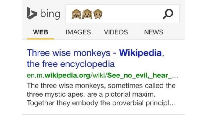 Bing passa a aceitar buscas usando emojis para fazer buscas (Foto: Reprodução/Microsoft)