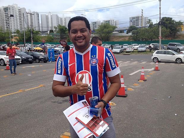 Alexandro Saldanha, candidato ao exame da OAB em Salvador, Bahia (Foto: Maiana Belo / G1)