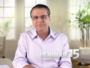 Henrique Eduardo Alves (PMDB) é candidato ao governo do Rio Grande do Norte e negou qualquer envolvimento no suposto esquema de pagamento de propinas na Petrobras (Foto: Reprodução/Programa eleitoral)
