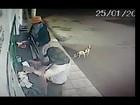 Vídeo mostra criminosos assaltando posto de combustíveis em Prata