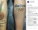 Um mês após ouro na Olimpíada, Weverton eterniza conquista na pele
