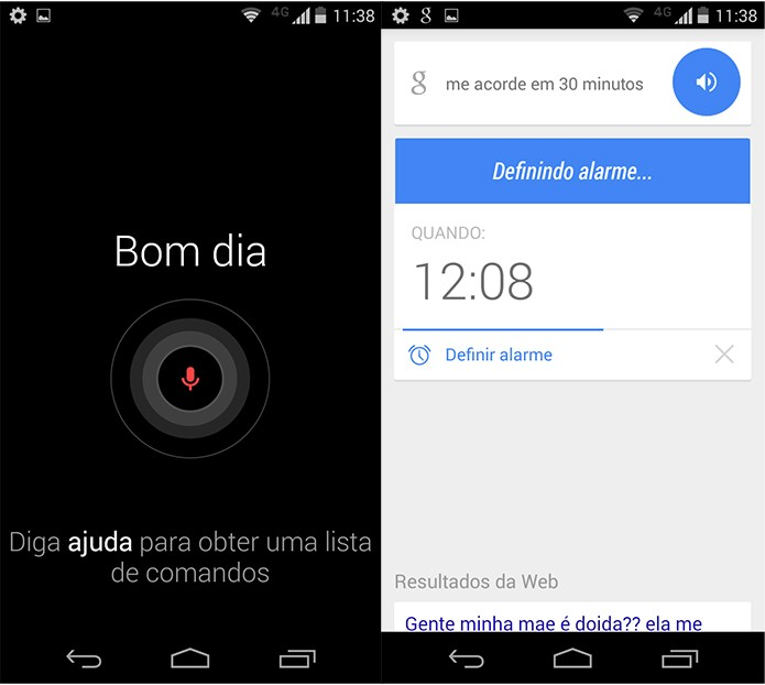 Você pode controlar vários aspectos do Moto X com o Google Now (Reprodução)