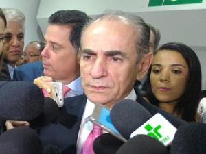 Ministro da Saúde, Marcelo de Castro, falou sobre protocolo para casos de microcefalia, em Goiânia (Foto: Vanessa Martins/G1)