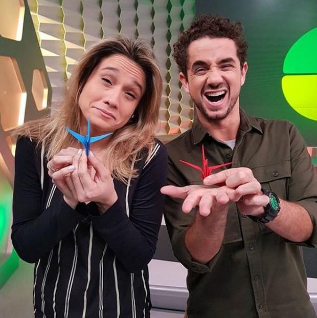 Fernanda Gentil e Felipe Andreoli no Globo Esporte (Foto: Reprodução/Instagram)