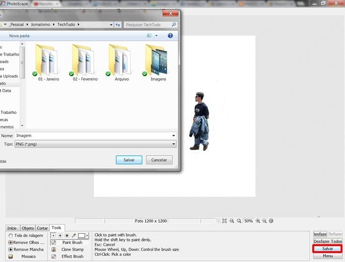 Salve a imagem editada nos formatos .JPGE ou .PNG (Foto: Reprodução/Daniel Ribeiro)
