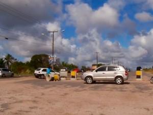Acessos ao aeroporto de São Gonçalo do Amarante (Foto: Reprodução/Inter TV Cabugi)