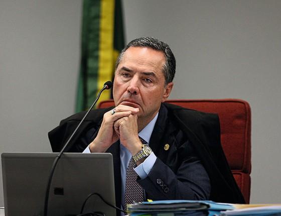 O ministro Luís roberto Barroso no STF (Foto: Agência Senado)