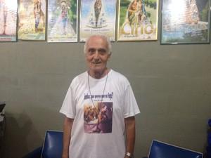 Padre João Magoni, responsável de realizar a missa do primeiro encontro dos coroinhas em Macapá (Foto: Aline Paiva/G1)