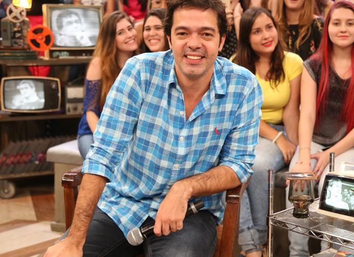 Bruno Mazzeo participa da gravação do programa Altas Horas (Foto: Carol Caminha/Gshow)