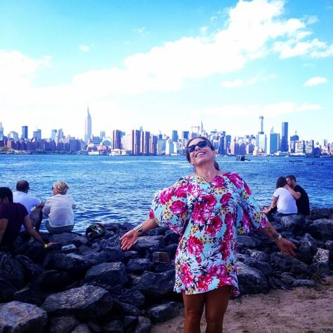 Cissa Guimarães em Nova York (Foto: Arquivo pessoal)