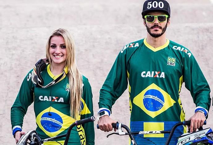 Priscilla e Renato representarão o Brasil no BMX (Foto: Maximiliano Blanco/CBC)