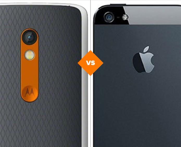 Moto X Play vs iPhone 5S: quem vence o comparativo? (Foto: Arte/TechTudo)